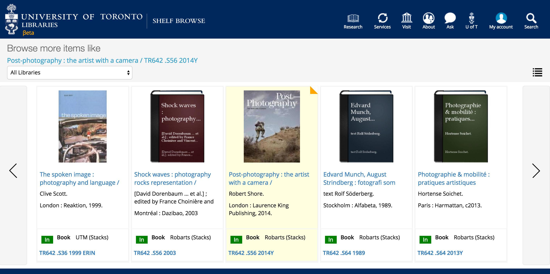 shelf browse screen shot